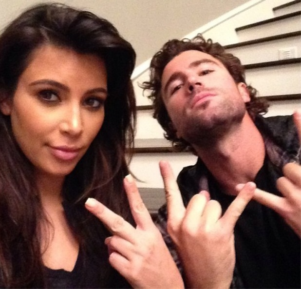 Kim Kardashian and Brody Jenner hang out together - 15 April 2013