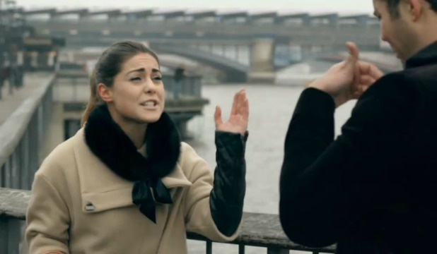 Made In Chelsea's Spencer Matthews and Louise Thompson in scenes aired on 22 April 2013