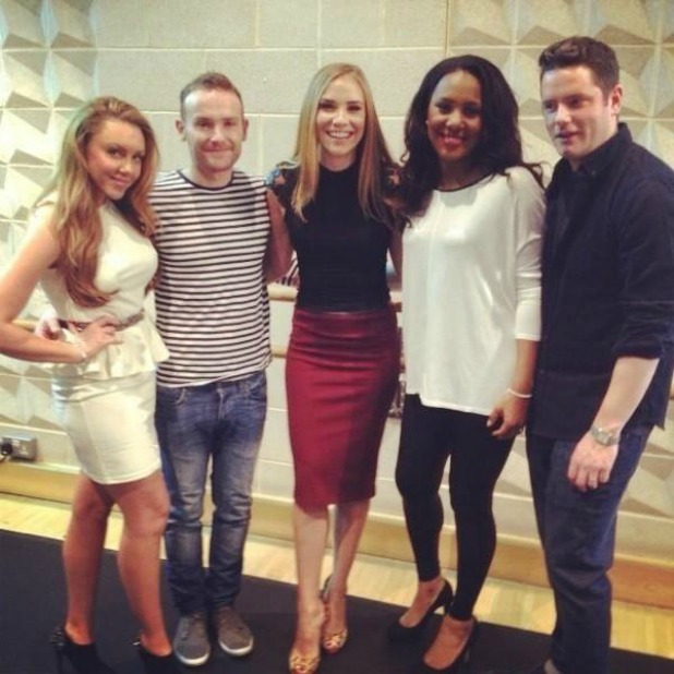 Big Reunion's Liberty X pictured in January - Michelle Heaton, Tony Lundon, Kevin Simm, Kelli Young and Jessica Taylor.