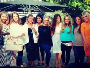 Georgina Dorsett shares a picture from her Essex baby shower, 10 May 2013