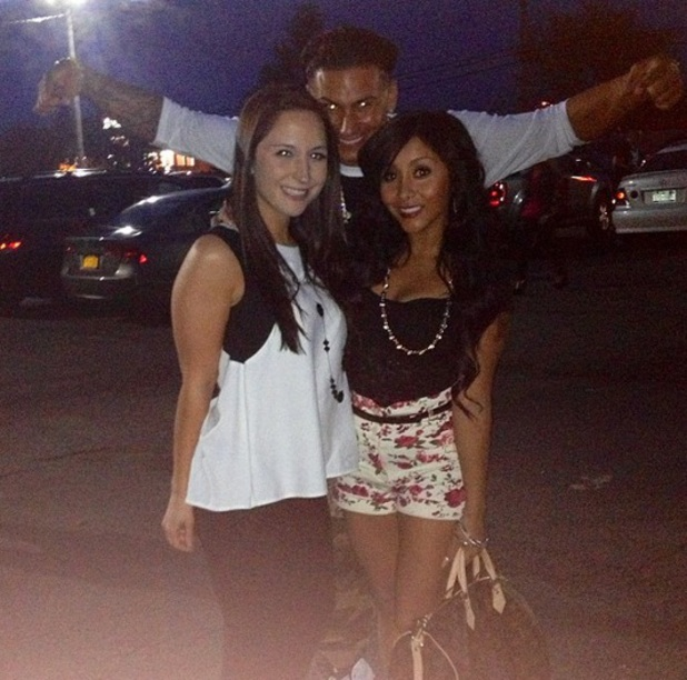 Snooki on a night out with Pauly D, 11 May 2013