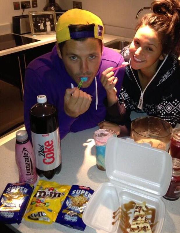 Michelle Keegan shares Twitter snap of cosy night in with Mark Wright, May 5 2013