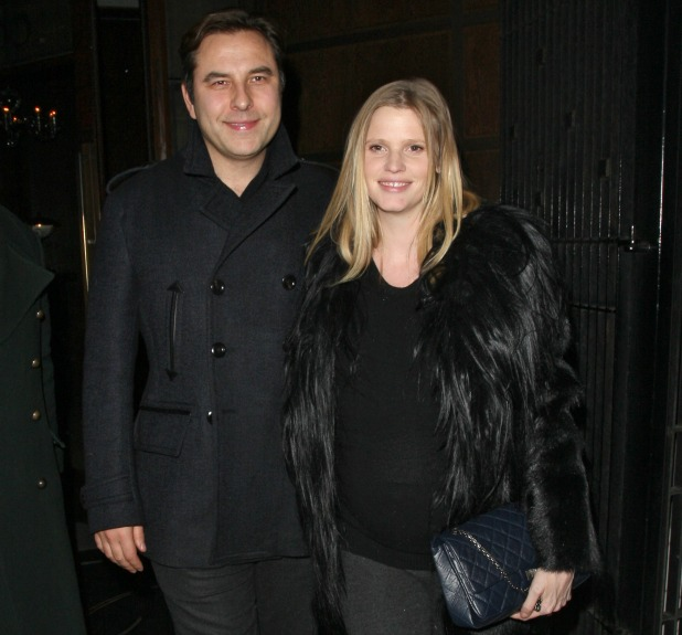 David Walliams and his pregnant wife, Lara Stone, leave The Delaunay restaurant in Covent Garden Featuring: David Walliams, Lara Stone Where: London, United Kingdom When: 26 Mar 2013 Credit: Spiller/WENN.com