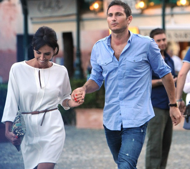 Christine Bleakley and Frank Lampard taking a stroll while on holiday in Portofino, Portofino, Italy - 15.06.12