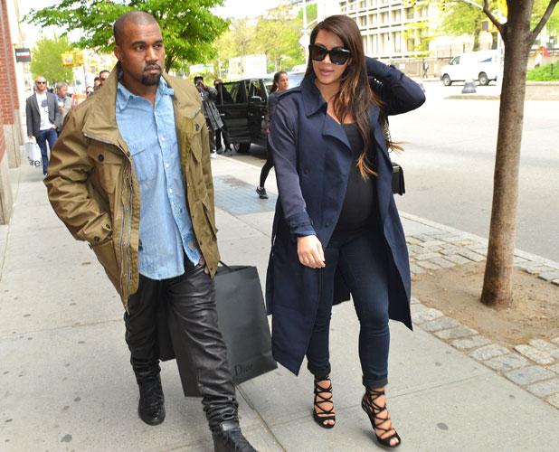 Kim Kardashian and Kanye West shopping in Soho, 6 May 2013