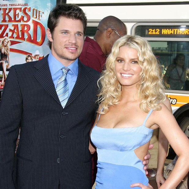 Nick Lachey and Jessica Simpson Los Angeles premiere of ' The Dukes of Hazzard ' - Red Carpet Grauman's Chinese Theater Los Angeles, California- 28.07.05