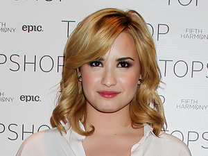Demi Lovato Topshop launches online competition, New York, America - 13 May 2013