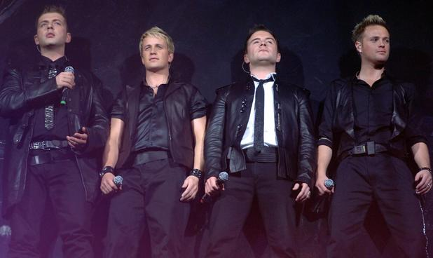 Nicky Byrne, Mark Feehily, Kian Egan, Shane Filan Irish boyband Westlife performing in concert at Wembley Arena London, England - 31.03.07