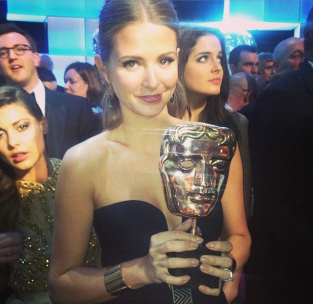 Millie Mackintosh holding BAFTA for Made in Chelsea, 12 May 2013