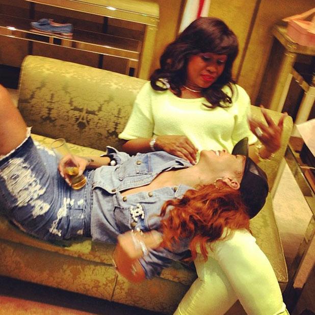 Rihanna and her mum in LA, April 2013