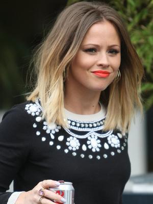 Kimberley Walsh outside the ITV studios, 7 February 2013