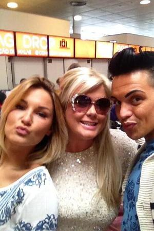 Sam Faiers, Bobby Norris and Gemma Collins at airport - 22 May 2013