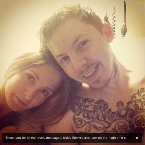 Millie Mackintosh tweets picture from hospital bed as Professor Green recovers from being run over by a car, May 25 2013