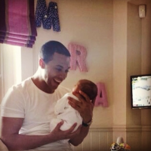 Marvin Humes uploads first picture of baby Alaia-Mai - Friday 24 May