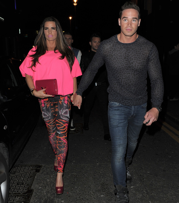 Katie Price and husband Kieran Hayler enjoy a night out at Club Aquarium in Shoreditch, May 25 2013