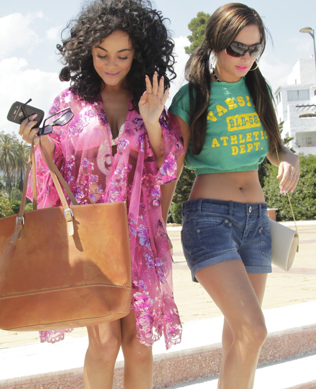 Tulisa and Chelsee Healey enjoy a holiday in sunny Marbella, May 2013