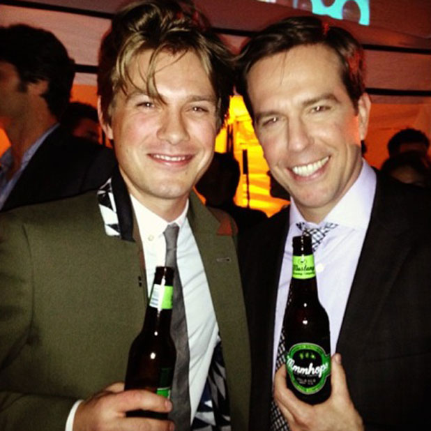 Taylor Hanson and Ed Helms at the premiere of The Hangover Part III, 20 May 2013