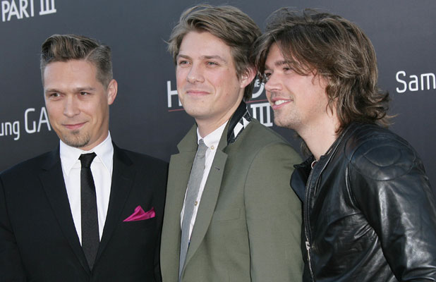Taylor Hanson, Zac Hanson, Isaac Hanson at the premiere of The Hangover Part III in LA, 20 May 2013