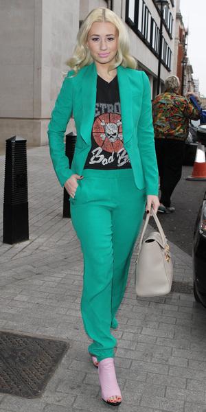 Mint Outfit Pants Suit Celebrity Style Urban Fashion Street Style Iggy Azalea Style Iggy