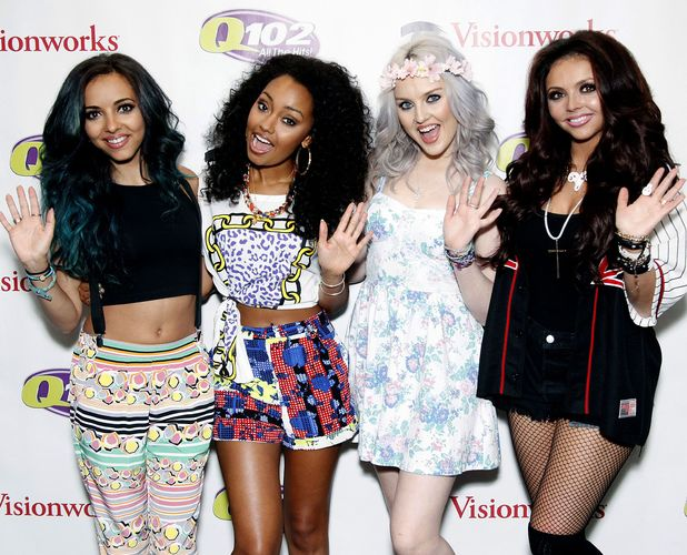 Little Mix - Jade Thirlwall, Leigh-Anne Pinnock, Perrie Edwards and Jesy Nelson performing on Q102 radio station in Bala Cynwyd, Pennsylvania, America - 30 May 2013