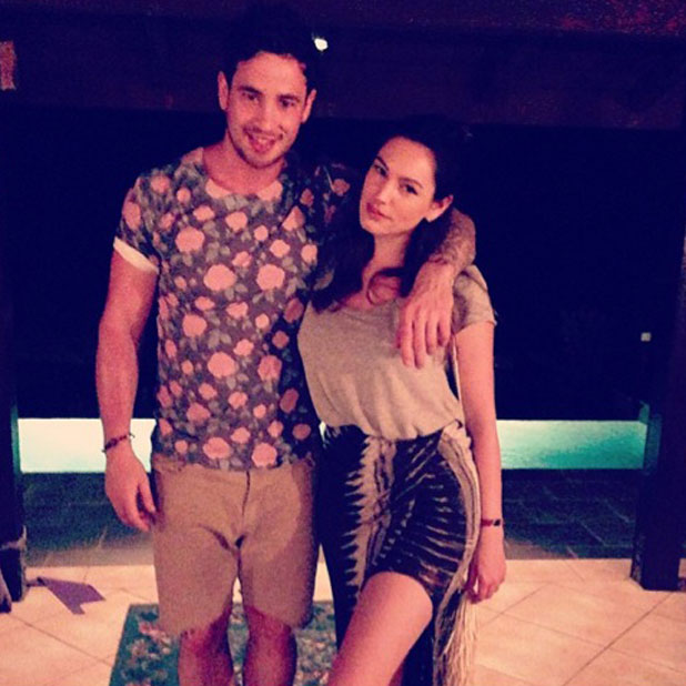 Kelly Brook and Danny Cipriani in Tobago, 29 May 2013