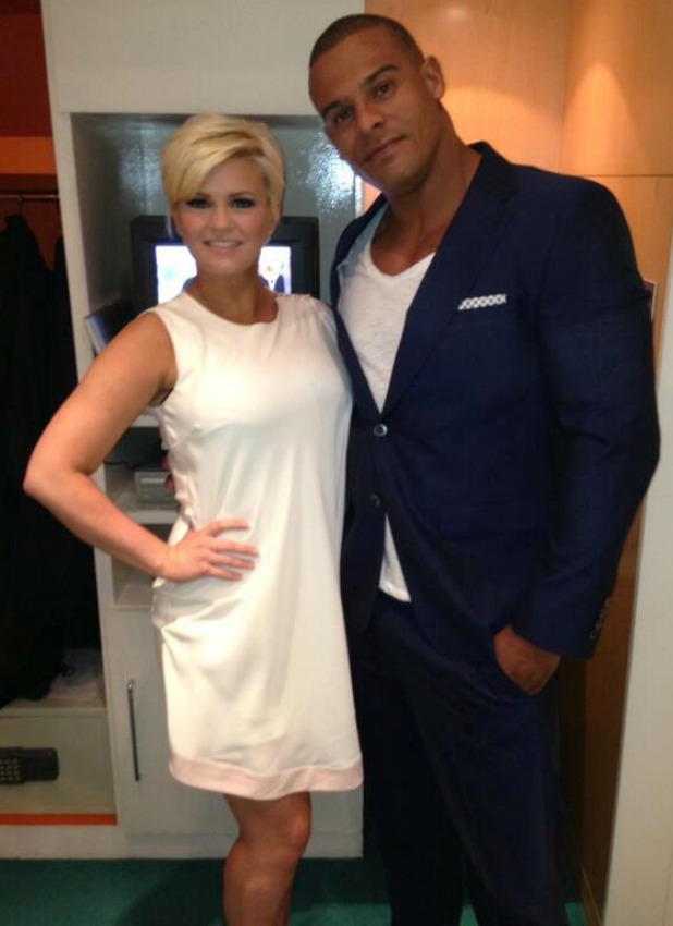 Kerry Katona and her fiance George Kay backstage at ITV's Loose Women
