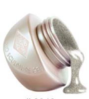 Bio Sculpture Gel in Solid Silver Glitter