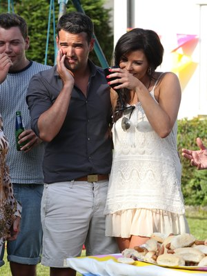 Arg challenges Rami to a hot dog eating contestant to win back Gemma at TOWIE BBQ, June 8 2013