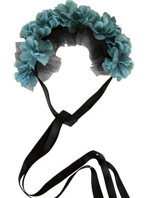 Topshop floral net garland for hair
