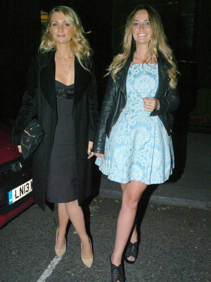 Made In Chelsea star's Olivia Newman-Young and Fran Newman-Young at Cheska Hull's birthday party at Retro Feasts at 29 Old Burlington Street, June 7 2013