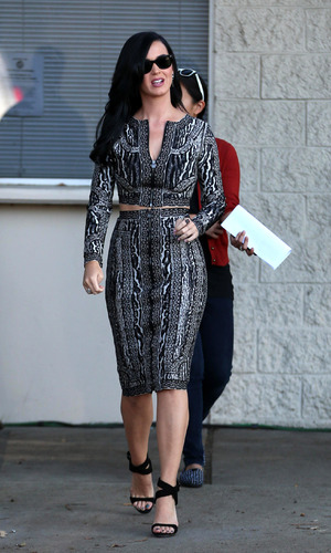 Katy Perry leaves a film set for the 'Kroll Show' - 4 Jun 2013