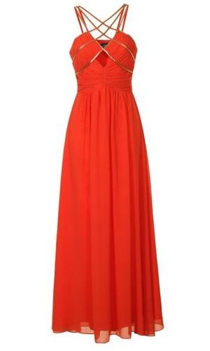 Reveal Shop orange maxi dress