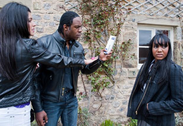 Emmerdale, Dom finds the pregnancy test kit, Fri 7 Jun