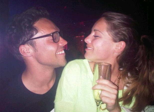 Made In Chelsea stars Andy Jordan and Louise Thompson attend Francesca Hull's birthday party at Retro Feasts at 29 Old Burlington Street, June 7 2013