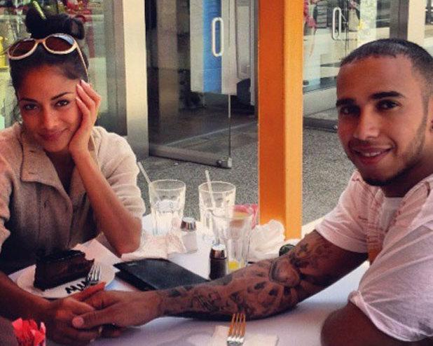 Nicole Scherzinger and Lewis Hamilton in a Twitter picture, 4 June 2013