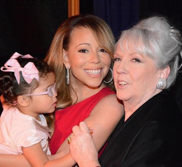 Mariah Carey, mum Patricia and daughter, Monroe - June 2013