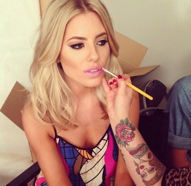 Mollie King Instagram topshop lipstick cami carnival