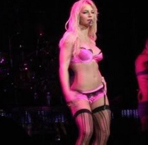 Britney Spears on her Onyx Hotel tour, 2004
