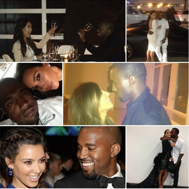 Kim Kardashian makes birthday collage for Kanye West, June 8 2013