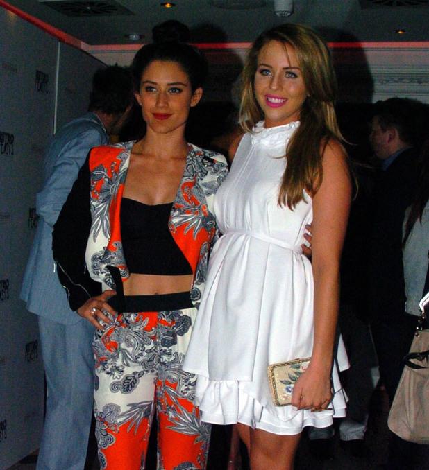 Celebrities are seen arriving to Retro Feast pop-up restaurant - Katie Waissel, Lydia Bright - 5 June 2013