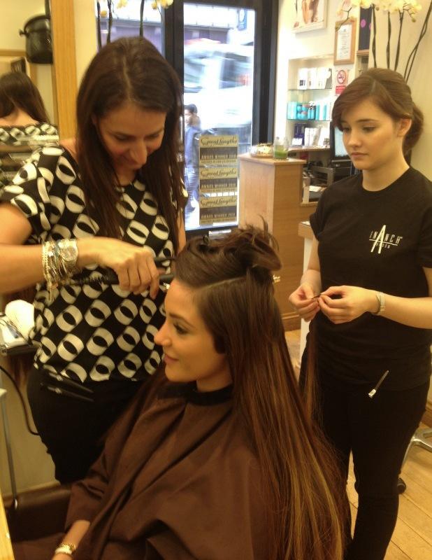Frankie Sandford Inanch hair extensions salon
