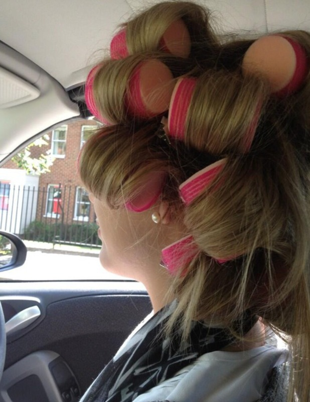 Lydia Bright sleep in rollers twitter