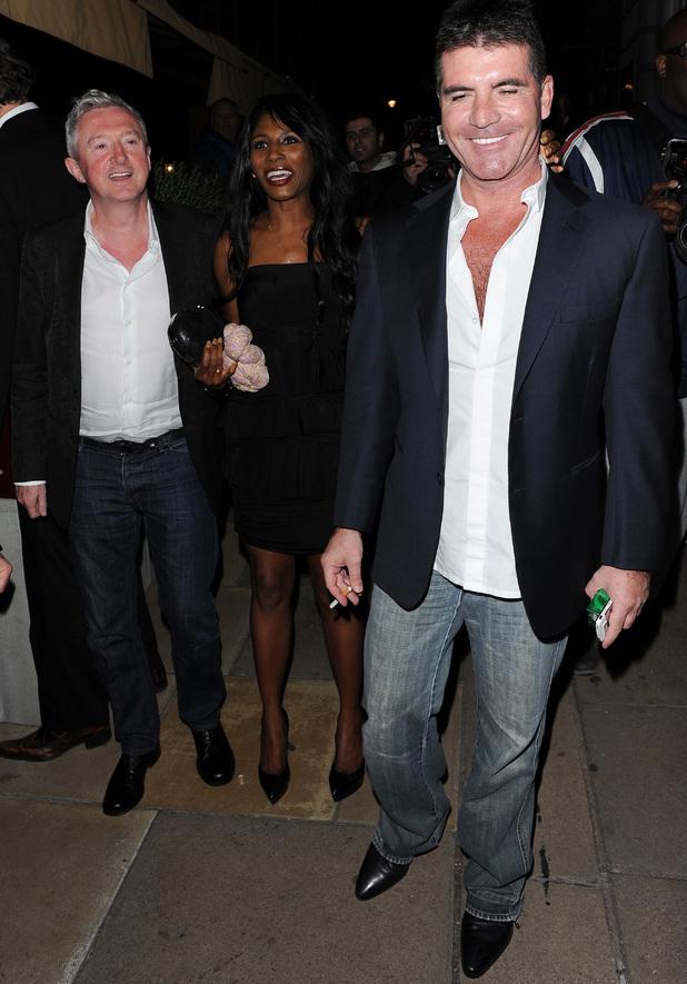 Celebrities leave Loulou's private members club, Simon Cowell,Louis Walsh,Sinitta, 6 June 2013