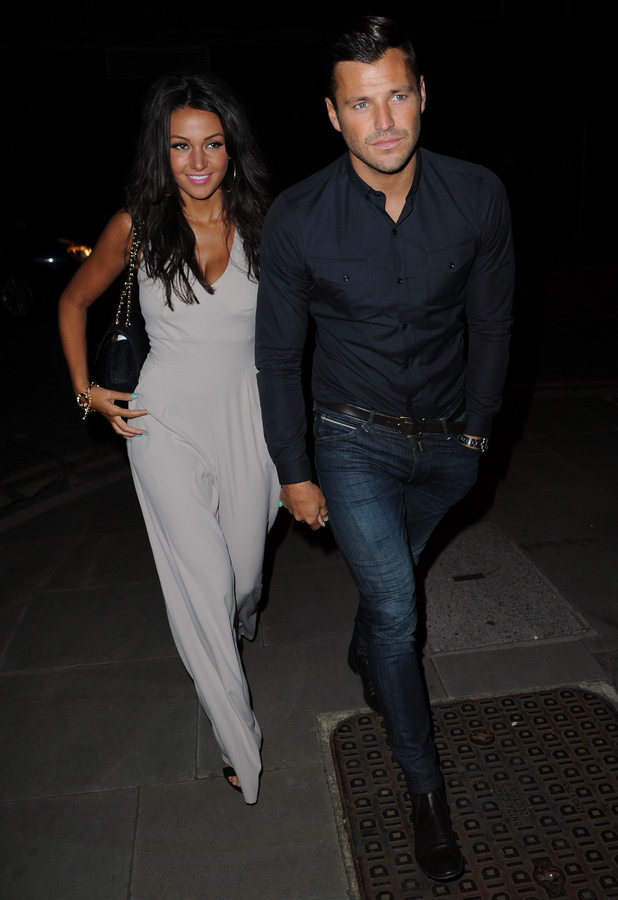 Michelle Keegan and Mark Wright attend Brooke Vincent's 21st birthday party at Great John Street Hotel, June 8 2013