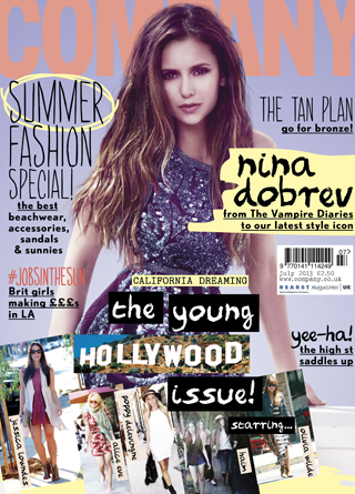 Nina Dobrev - July 2013 issue of Company magazine