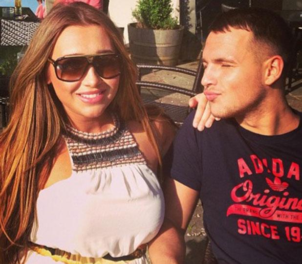 Lauren Goodger and Jake McLean in an Instagram picture, 5 June 2013