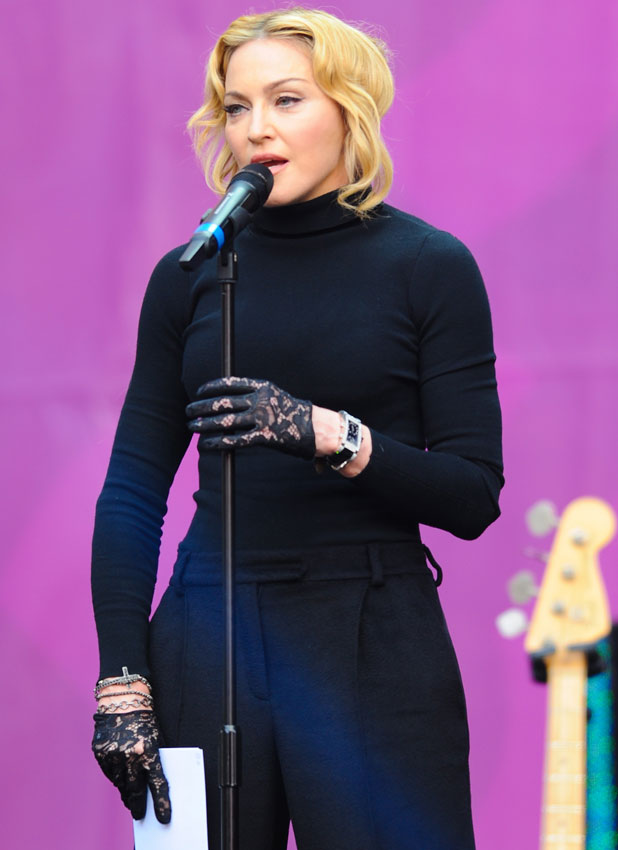 Madonna at Chime For Change Concert at Twickenham Stadium, 1 June 2013
