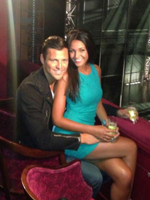 Michelle Keegan celebrates her birthday with Mark Wright at the Jersey Boys musical at the Prince Edward Theatre in Soho, 4 June 2013