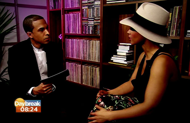Alicia Keys talks about her tour 'Set The World On Fire' on Daybreak Caption:	Daybreak. Shown on ITV1 HD Person In Image: Marvin Humes, Alicia Keys