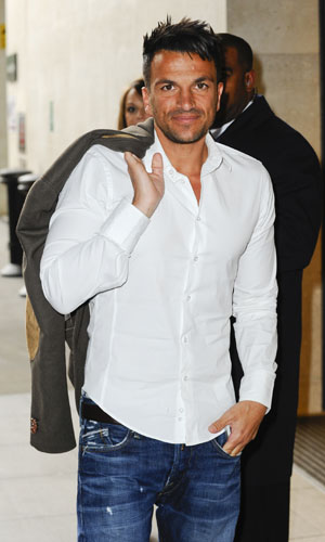 22 May - Peter Andre seen leaving the BBC Studios